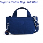 Kipling Sugar S II Ink Blue กระเป๋าหิ้วกุ๊กกิ๊ก หรือสะพายน่ารัก ในรุ่นที่ 2 ขนาด L 11.5 x H 6.25 X D 6 นิ้ว