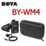 BY-WM4 Boya Wireless Microphone For DSLR Camera Camcorder and Mobile ไมค์โครโฟนไร้สายสำหรับกล้องDSLR