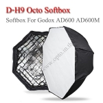D-H9 Octa Softbox Multifunctional With Grid For Godox Mount AD600 AD600M Flash ซอฟท์บ๊อกซ์แปดเหลี่ยม