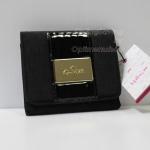 "Kipling Thad Black Golden Mix กระเป๋าสตางพับ 3 ตอน ขนาด 4.25"" x 3.75"" x 1"" นิ้ว"