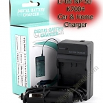 Home + Car Battery Charger For Olympus Li-68 NP-50 K7004
