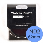 TIANYA Neutral Density ND 2 ND2 Filter 62mm.