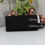 Kipling New Teddi Black หรือชื่อเดิม Brownie กระเป๋าสตางค์ใบยาว ขนาด 7.5x3.75x1xนิ้ว