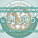 ข่าวเปิดสอบกรมส่งเสริมการปกครองท้องถิ่น เปิดสอบท้องถิ่น จำนวน 21,605 อัตรา ปี 2560