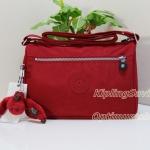 Kipling Callie Cherry กระเป๋าสะพายข้าง ภายในแบ่งสัดส่วน น่าใช้มาก ขนาด L10.5 x H7.5 x D 4.38 นิ้ว
