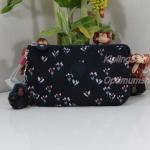 Kipling Creativity L Small Flower กระเป๋าอนกประสงค์ 3 ช่อง + 2 ช่องเล็ก ขนาด 18.5 x 11 x 5 cm