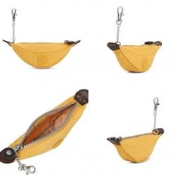 Kipling mini Banana Pouch Key Chain- Yellow (USA) ขนาด 7x2x1.5 นิ้ว