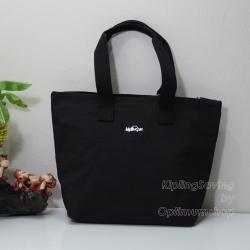 Kipling Niamh Dazz Black กระเป๋าโท๊ต มีบุกันความร้อนด้านใน ขนาด 35 L x 25 H x 9W cm