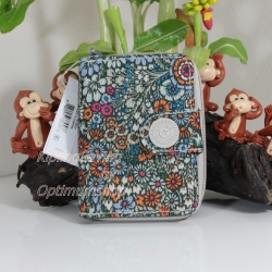 Kipling New Money Loopy Flowers เป็นกระเป๋าสตางค์ ขนาดกระชับมือ ขนาด 4 x 5.25 x 1 นิ้ว