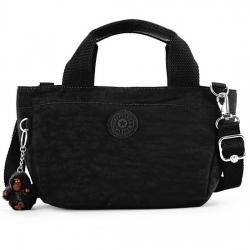Kipling Sugar S II Black กระเป๋าหิ้วกุ๊กกิ๊ก หรือสะพายน่ารัก ในรุ่นที่ 2 ขนาด L 11.5 x H 6.25 X D 6 นิ้ว
