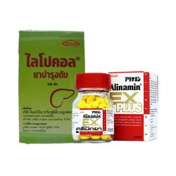 Alinamin Ex plus + Lipochol [SET Liver Fresh] จับคู่ผสมผสานอย่างลงตัว บำรุงและซ่อมแซมตับจากการดื่มหนัก และพักผ่อนน้อย