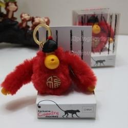 Kipling China monkey keychain มาพร้อมกล่องพลาสติกใส ขนาด 4x3.25x2.25 นิ้ว