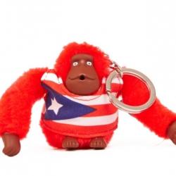 Kipling Puerto Rico monkey keychain มาพร้อมกล่องพลาสติกใส ขนาด 4x3.25x2.25 นิ้ว