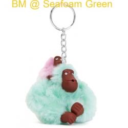 Kipling Baby Monkey Keychain พวงกุญแจลิงแม่ลูก สี Seafoam Green ขนาด 2x5x1 นิ้ว