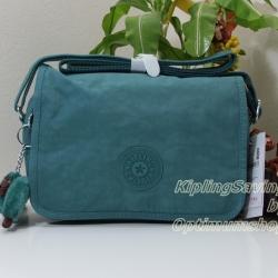 Kipling Delphin N Dynasty Green ขนาด 23 x 15.5 x 5 cm สะพายน่ารัก