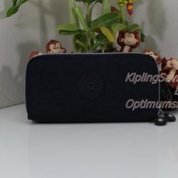 Kipling Uzario True Blue เป็นกระเป๋าสตางค์ใบยาวแบบ 2 ซิปรอบ ขนาด 10 L x 18.5 H x 3.5 W cm