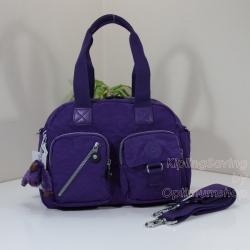 "Kipling Defea Tile Purple กระเป๋ารุ่นยอดนิยมตลอดกาล ขนาด 13"" x 9.5"" x 6"" นิ้ว"