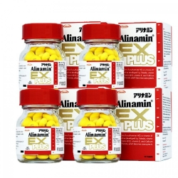Alinamin Ex Plus อะลินามิน เอ็กซ์ พลัส 60 เม็ด 4 ขวด