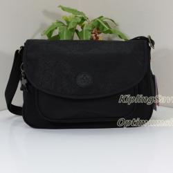 Kipling Sunita Black Leaf กระเป๋าสะพายขนาดกลาง ขนาด 31 L x 21 H x 14 W cm