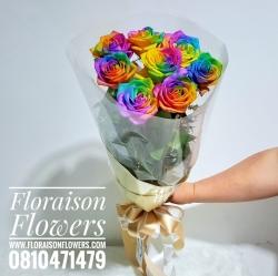 ช่อกุหลาบสีรุ้ง Rainbow | (Limited Premium)