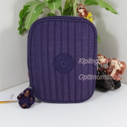 Kipling Nolan Pomegranate กระเป๋าใส่เครื่องเขียน แปรงแต่งหน้า หรืออุปกรณ์มือถือ ขนาด L 7.75 x H 5.75 x D 1.5 นิ้ว