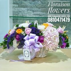 ตะกร้าดอกไม้ แสดงความยินดี (L)