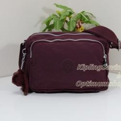 Kipling Reth Crimson กระเป๋าสะพาย หลายช่องซิป จุมาก น่าใช้ ขนาด 27 L x 17.5 H x 15 W cm