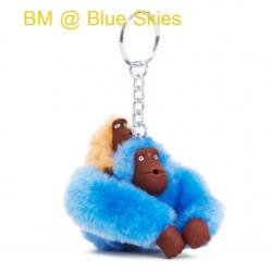 Kipling Baby Monkey Keychain พวงกุญแจลิงแม่ลูก สี Blue Skies ขนาด 2x5x1 นิ้ว