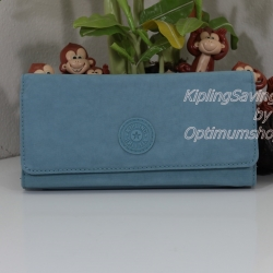 Kipling Brownie Pastel Blue C กระเป๋าสตางค์ใบยาว ขนาด 19 L x 10 H x 3 W cm
