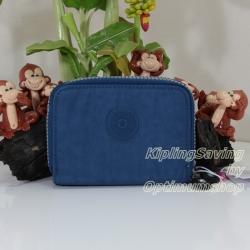 Kipling Abra Jazzy Blue เป็นกระเป๋าสตางค์รุ่นใหม่ ขนาดกระชับมือแบบซิปรอบ ขนาด 3 W x 9 H x 12.5 D cm