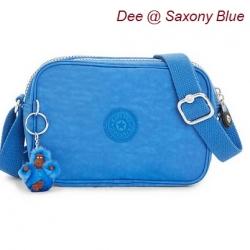 Kipling Dee Saxony Blue กระเป๋าสะพายน่ารัก รุ่นนี้มี 2 ช่องซิป ขนาด L7.5 x H 5 X 2.75 นิ้ว