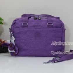 Kipling Devyn Violet Purple กระเป๋าสะพายขึ้นไหล่ หรือสะพายข้าง ขนาด L12.75 x H 9 x D 6.25นิ้ว สำเนา