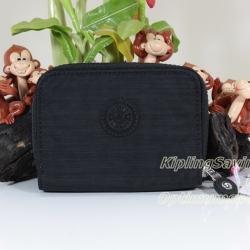 Kipling Abra Dazz Black เป็นกระเป๋าสตางค์รุ่นใหม่ ขนาดกระชับมือแบบซิปรอบ ขนาด 3 W x 9 H x 12.5 D cm