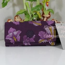 Kipling Brownie Herridage Flowers กระเป๋าสตางค์ใบยาว ขนาด 19 L x 10 H x 3 W cm