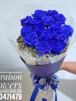 ช่อดอกกุหลาบ สีน้ำเงิน (Limited Premium)
