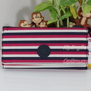 Kipling Brownie Sugar Stripes กระเป๋าสตางค์ใบยาว ขนาด 19 L x 10 H x 3 W cm