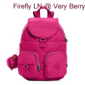 Kipling Firefly LN Very Berry กระเป๋าสะพายขนาดกลาง ขนาด L 10.25 x H 13 x D 7.25 นิ้ว