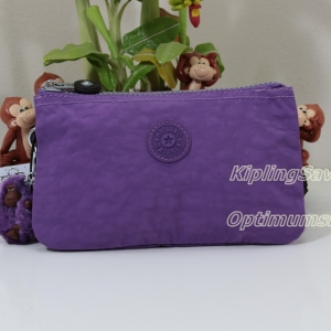 Kipling Creativity L Violet Purple ขนาด 7x4.25x1 นิ้ว