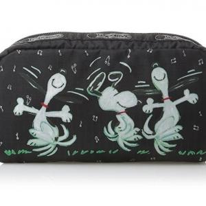 Lesportsac Rectangular Cosmetic ลาย Dance Away กระเป๋าใส่เครื่องสำอาง ขนาด3.5 x 6.75 x 2 นิ้ว