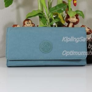 Kipling New Teddi Sea Green หรือชื่อเดิม Brownie กระเป๋าสตางค์ใบยาว ขนาด 7.5x3.75x1xนิ้ว
