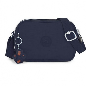 Kipling Dee True Blue กระเป๋าสะพายน่ารัก รุ่นนี้มี 2 ช่องซิป ขนาด L7.5 x H 5 X 2.75 นิ้ว