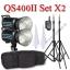 QS400II Setx2 400W Pro Flash Godox StudioSet + Wireless Trger 2.4Ghz ชุดแฟลชสตูดิโอปรับกำลังไร้สาย thumbnail 1