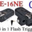 PE-16NE For Canon C6 Flash Trigger and Wireless Remote with Umbrella Holder thumbnail 1