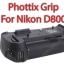 Phottix BP-D800 Premium Grip for Nikon D800 (MB-D12) thumbnail 1