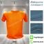 เสื้อยืดคอกลม สีส้ม รอบอก48นิ้ว