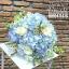 ช่อดอกไม้วันเกิด สีฟ้าพาสเทล แบบเปลือยก้าน (L) thumbnail 2