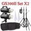GS300II Set 300W X2 Flash Godox Studio Kit + Wireless Trigger 2.4Ghz ชุดแฟลชสตูดิโอปรับกำลังไร้สาย thumbnail 1