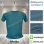 เสื้อยืดคอกลม สีเขียวสมอ รอบอก 40 นิ้ว เบอร์ L