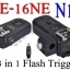 PE-16NE For Nikon N10 Flash Trigger and Wireless Remote with Umbrella Holder thumbnail 1