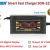 SUOER เครื่องชาร์จแบตเตอรี่รถยนต์ LCD Digital Display Smart Fast Charger 12 V/10.0A รุ่น SON-1210D+ พร้อมคู่มือภาษาไทย และรับประกันคุณภาพนาน 3 เดือน